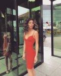 Мегз рокля с чашка
